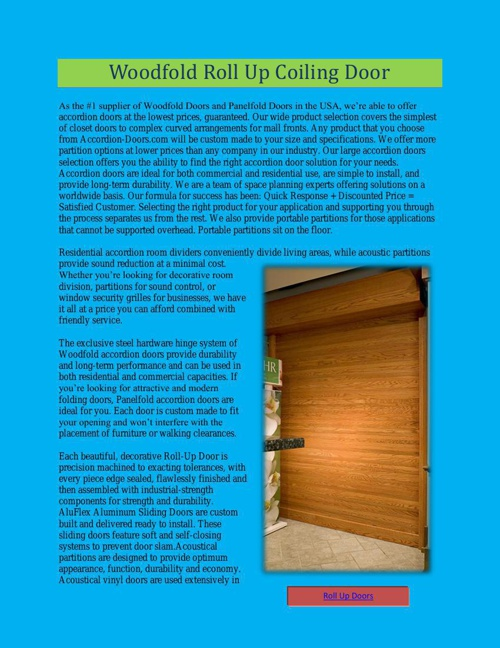 Woodfold Roll Up Coiling Door