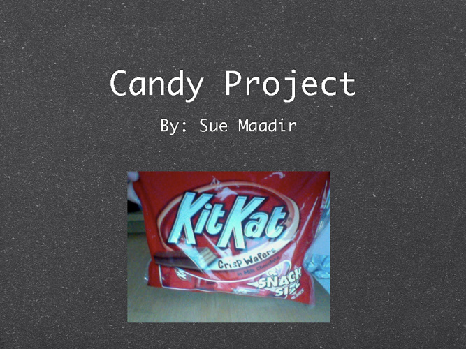 Candy Project