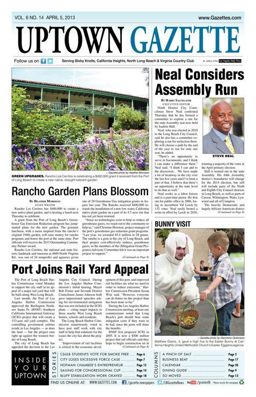 Uptown Gazette     April 5, 2013