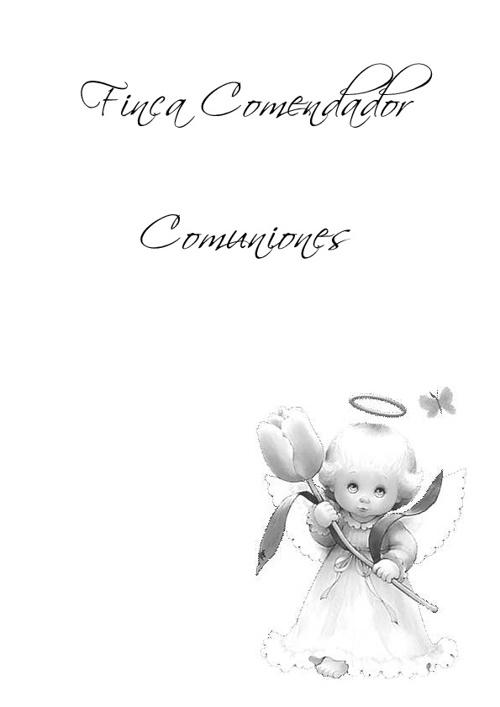 Finca Comendador - Menús de Comunión