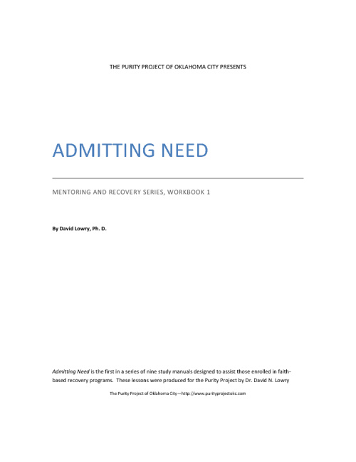 Book 1: Admitting Need