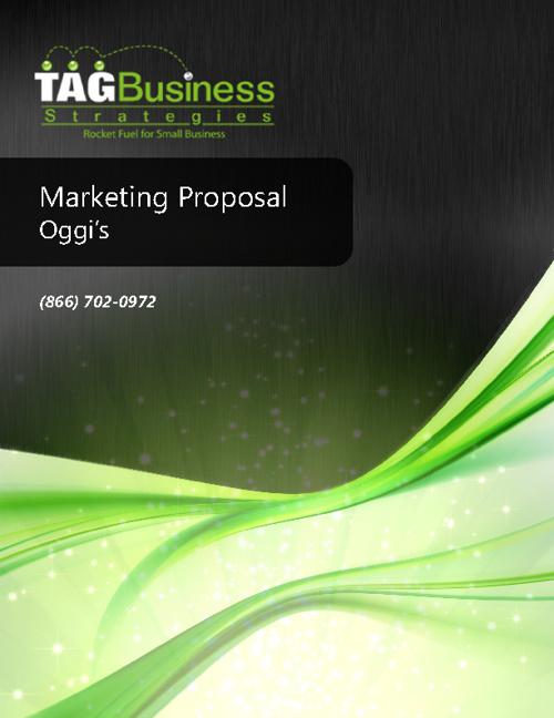 Marketing Proposal Oggi's