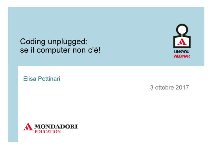 coding unplugged