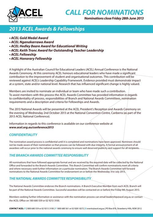 ACEL NSW 2013 Fellowship Awards