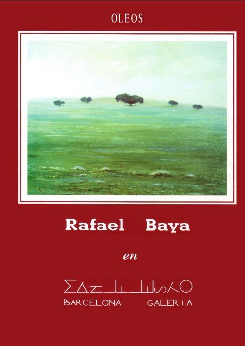 Exposición Rafael Baya 1994 Manifiesto