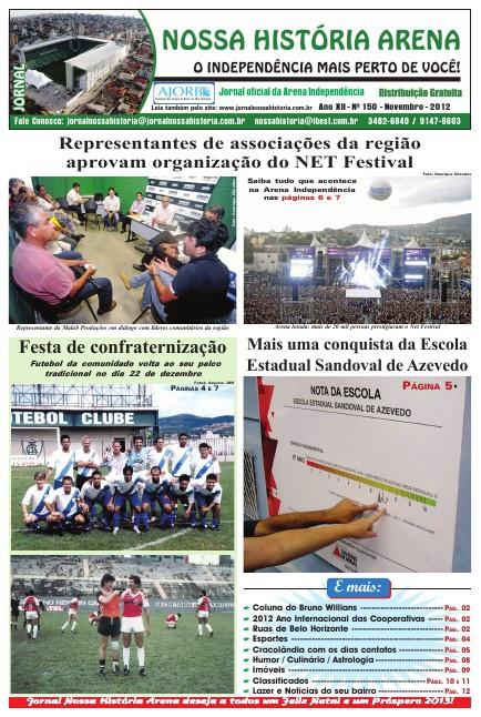 Jornal Nossa História Arena - ed. 150