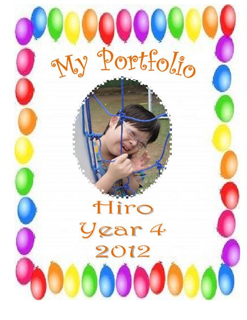 My Portfolio. Hiro. Year 4