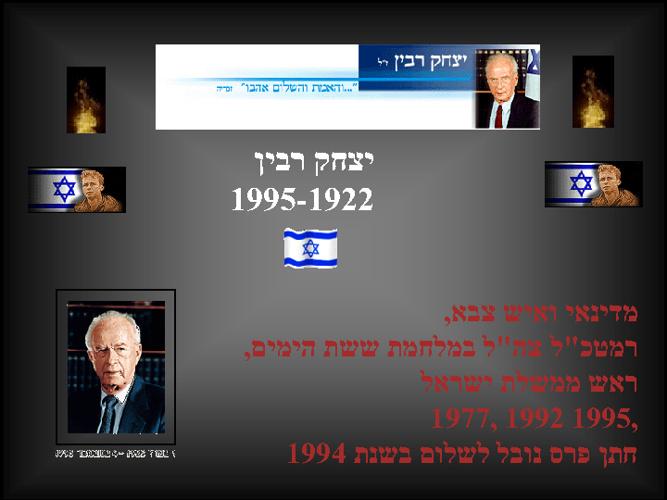 """אבני דרך בחייו של יצחק רבין ז""""ל"""