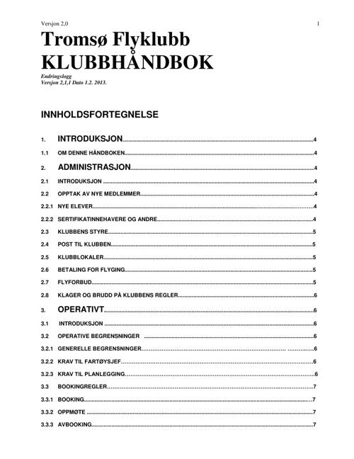 Klubbhåndbok TFK