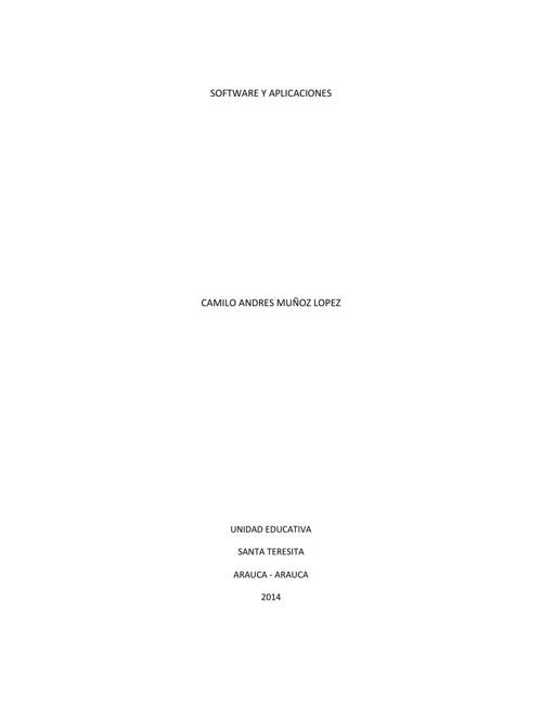 SOFTWARE Y APLICACIONES-camilo