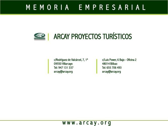 PRESENTACION ARCAY PROYECTOS TURÍSTICOS