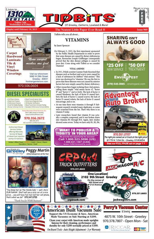 Tidbits of Greeley/Centerra/Loveland, Issue 969