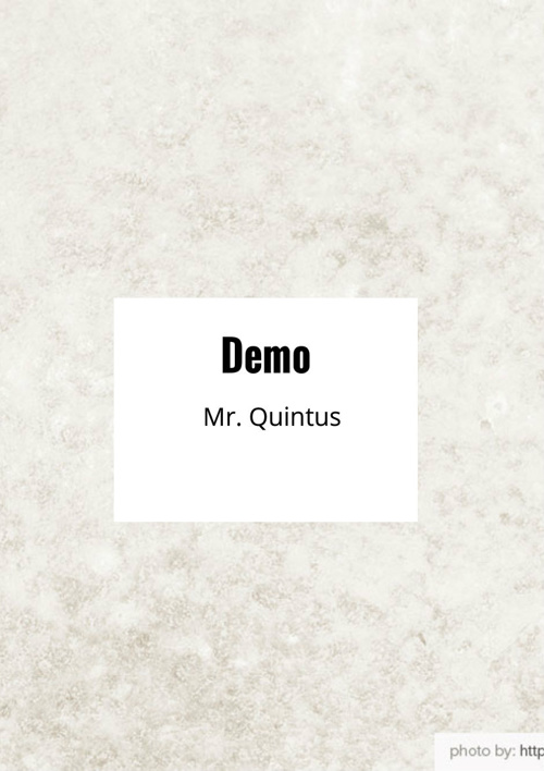 Copy of Mr. Quintus Book