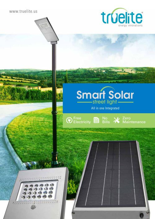 Truelite smart solar street light