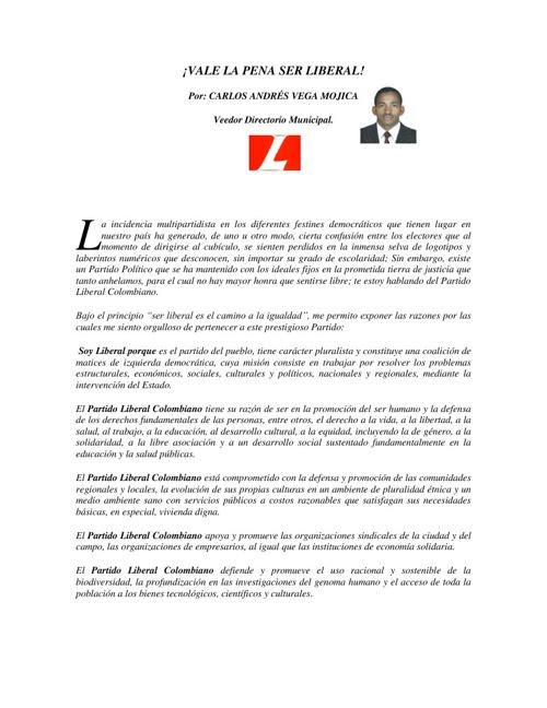 ENSAYO CORTO: VALE LA PENA SER LIBERAL