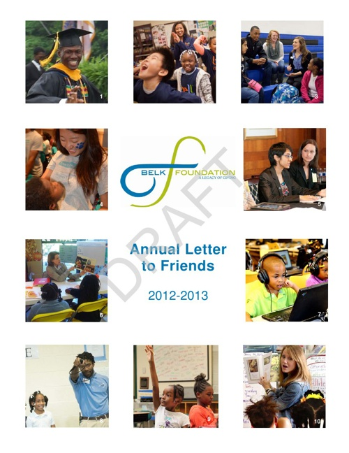 The Belk Foundation Annual Letter to Friends