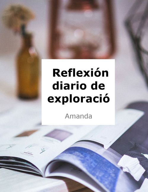 REFLEXIÓN DIARIO DE EXPLORACIÓN
