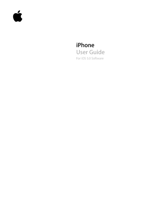 User guide for iphone