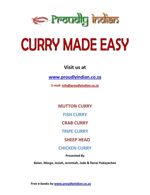 Curry Made Easy