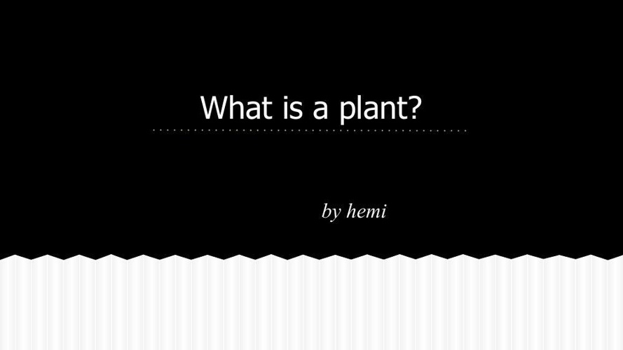 What is a plant :D