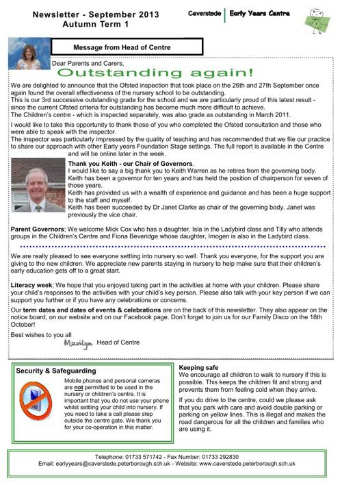 Autumn 1 newsletter 2013