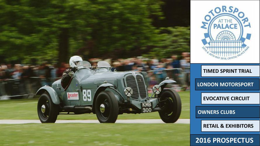 Motorsport at the Palace Prospectus
