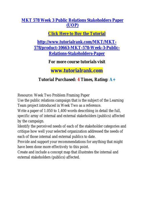 MKT 578 learning consultant - tutorialrank.com