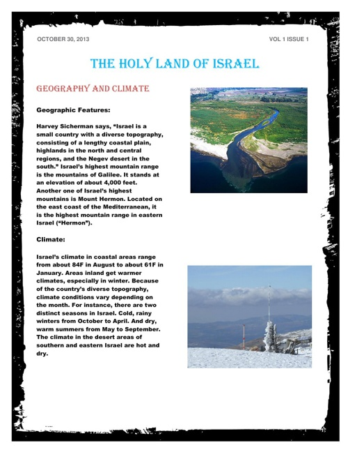 The Holy Land of Israel