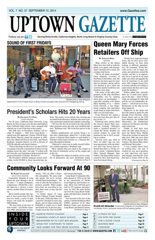 Uptown Gazette  |  September 12, 2014