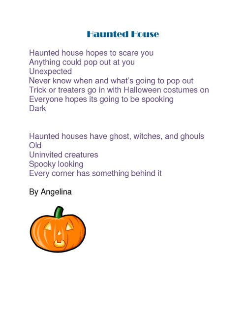 Halloween Poems by the Students at YWLA Academy