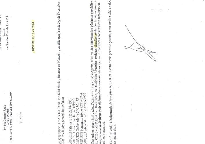 Documents preuves Abou Abdilah Ahmad