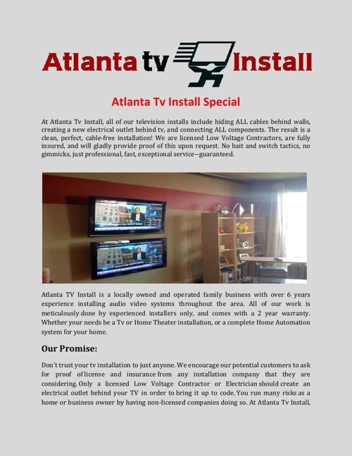 Atlanta Tv InstallSpecial