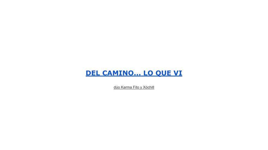 DEL CAMINO... LO QUE VI (2) (1) (1)