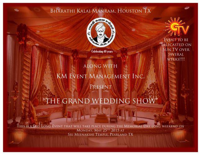 Welcome to the Kalyana Maalai Grand Wedding Show in Houston!