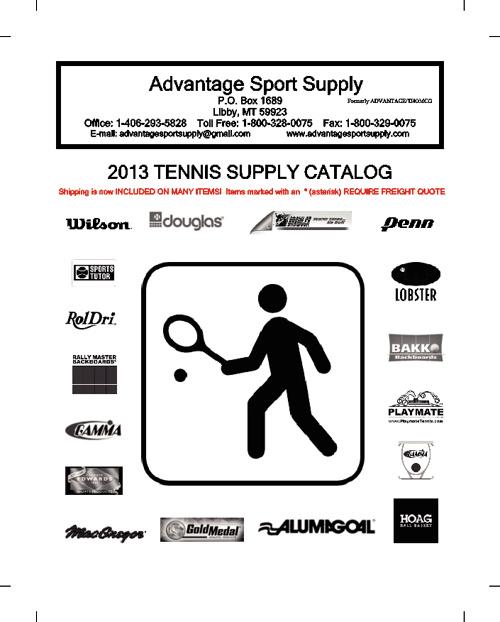 2013 Tennis Supply Catalog