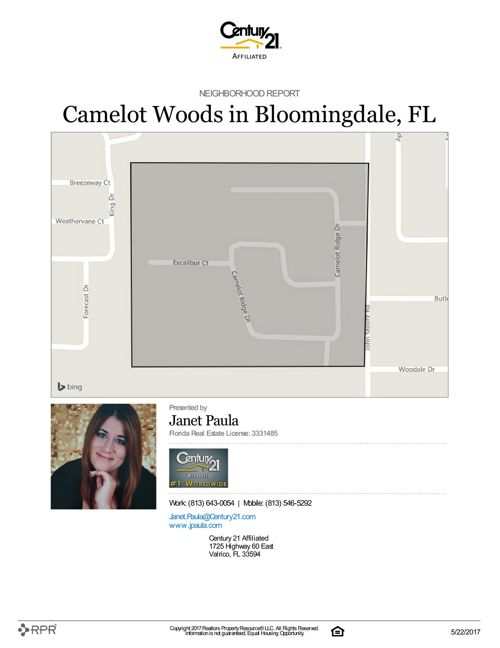Neighborhood Report for Camelot Woods