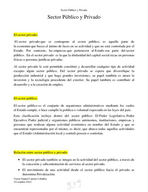 sector privado y publico