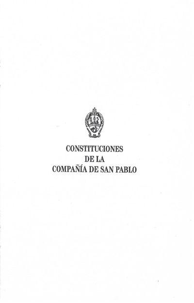 Constituciones de la Compañia de San Pablo