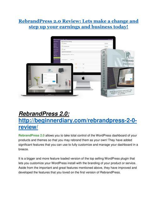 RebrandPress 2.0 Review-TRUST about RebrandPress 2.0 and 80% dis