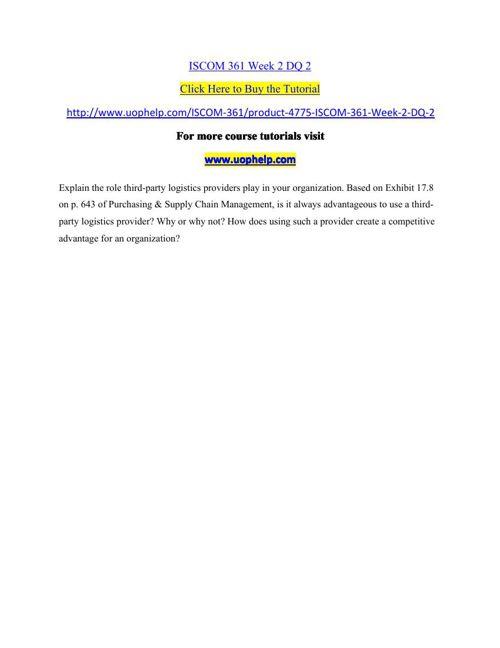ISCOM 361 Week 2 DQ 2