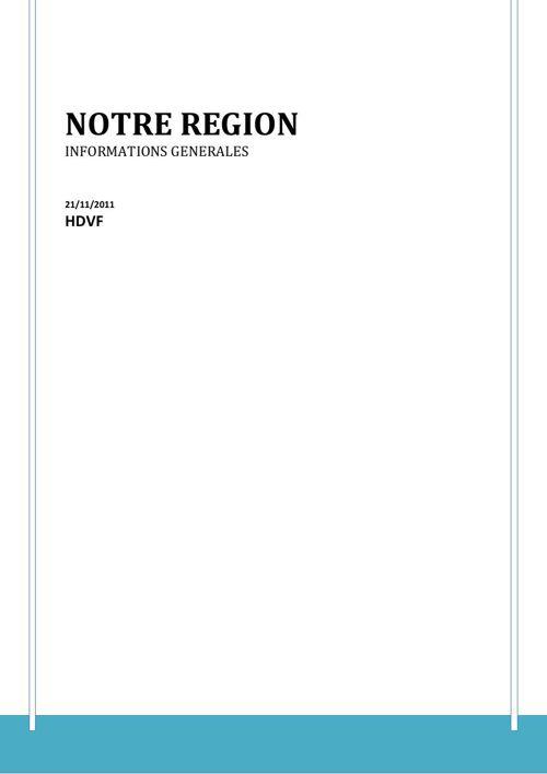 NOTRE REGION