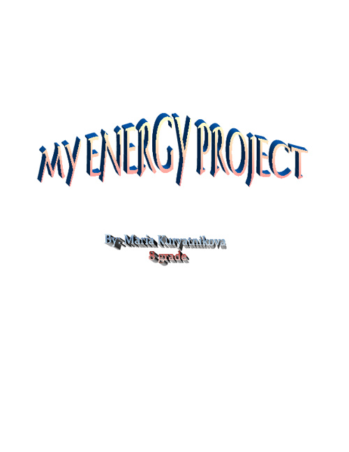 Energy Project Maria K