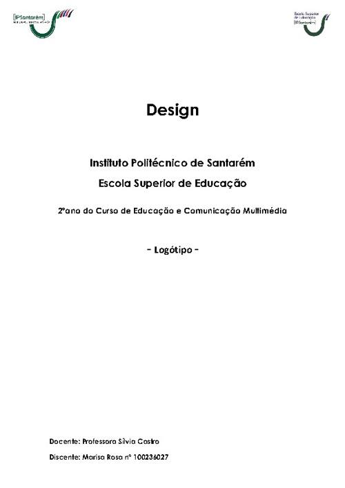 Design - Memória Descritiva