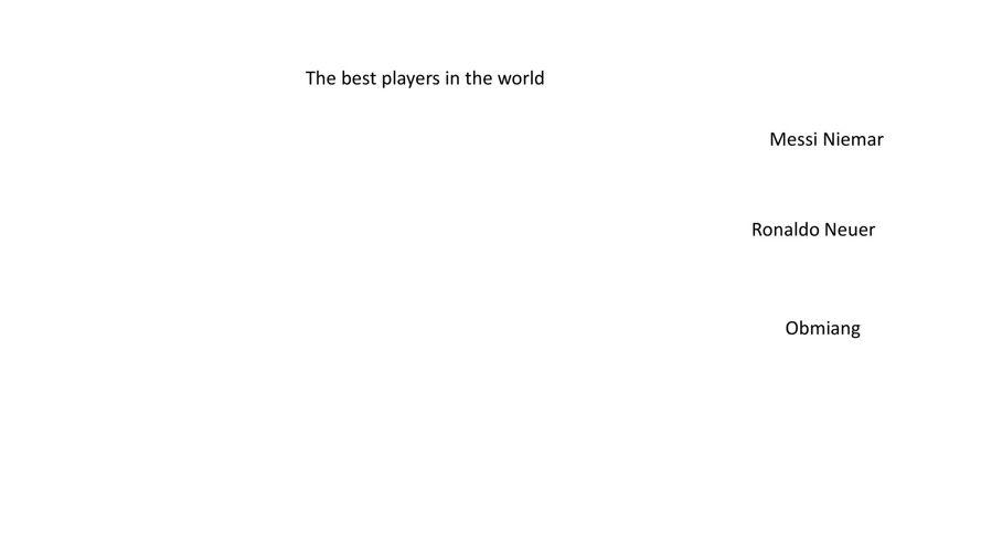 השחקנים הטובים בעולם