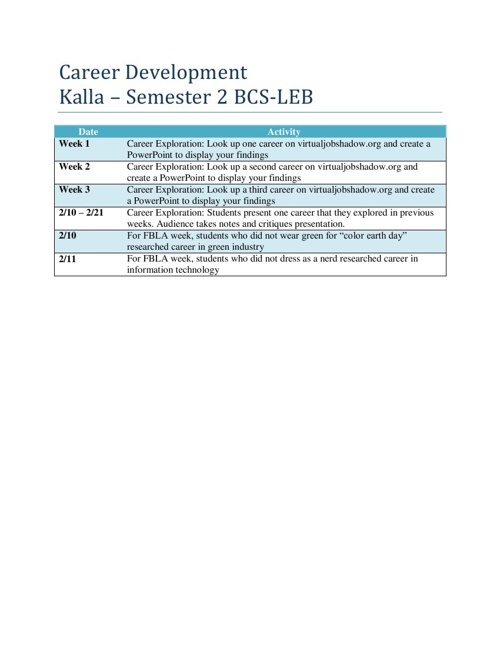BCS-LEB Career Development