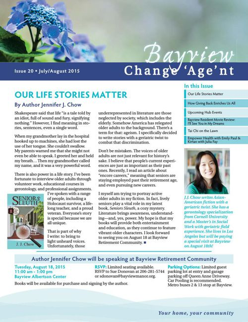 Bayview August 2015 Change 'Age'nt Newsletter