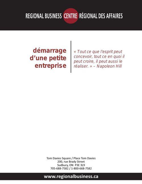 Guide de démarrage d'une petite entreprise