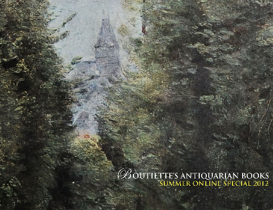 Boutiette's Antiquarian Books Online Summer Special 2012
