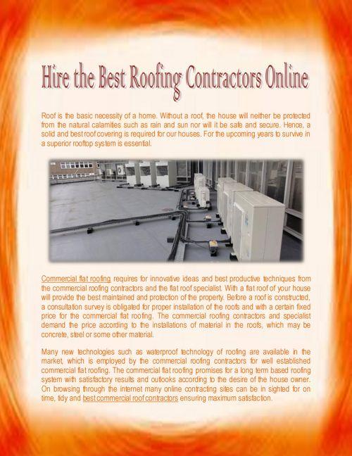 Choose Best Roofing Contractors Online