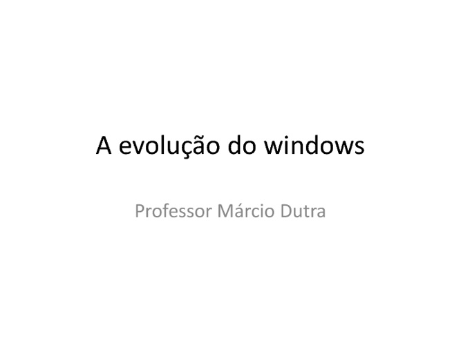 A história do windows
